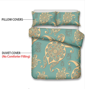 3D Bedding set Sea turtle Print Duvet cover set lifelike bedclothes with pillowcase bed set home