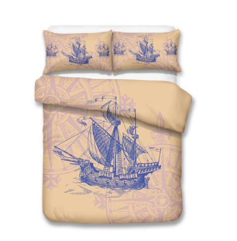 3D Bedding Set Ship's anchor Print Duvet cover set lifelike bedclothes with pillowcase bed set home