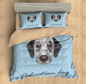 3D Customize Dalmatian Dog Bedding Set Duvet Cover