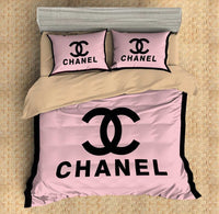 Chanel Inspired Custom Bedding Set Duvet Cover #6