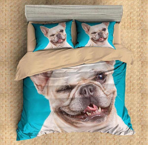 3D Customize French Bulldog Bedding Set Duvet Cover