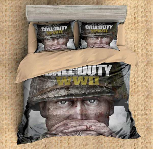 3D CUSTOMIZE CALL OF DUTY WW2 BEDDING SET DUVET COVER