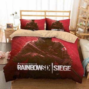 3D CUSTOMIZE TOM CLANCY'S RAINBOW SIX BEDDING SET DUVET COVER SET BEDROOM SET BEDLINEN