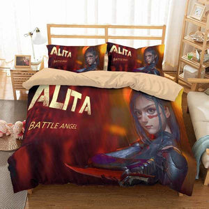3D Customize Alita Battle Angel Bedding Set Duvet Cover