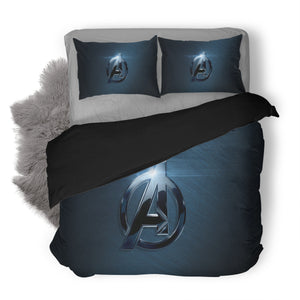 Avengers Logo Custom Bedding Set Duvet Cover