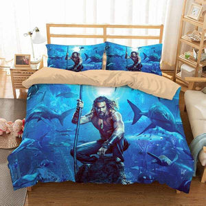 3D Customize Aquaman Bedding Set Duvet Cover #2