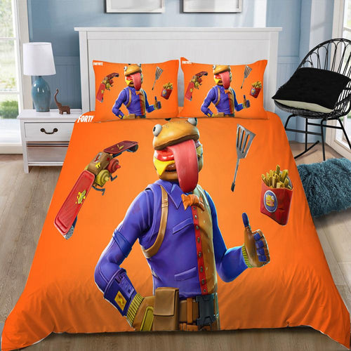 Beef Boss - Fortnite Gamer - Bedding Set (Duvet Cover & Pillowcases)