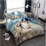 3D Bedding Set wolf Print Duvet cover set lifelike bedclothes with pillowcase - (10 Styles )