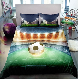 3D Boys Foot Ball Soccer Sports Bedclothes Quilt Comforter - (6 styles)