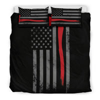 3D Customize  Firefighter Flag  Bedding Set Duvet Cover