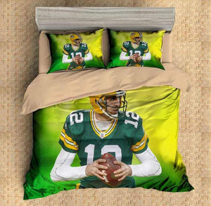 3D CUSTOMIZE AARON RODGERS GREEN BAY PACKERS BEDDING SET DUVET COVER
