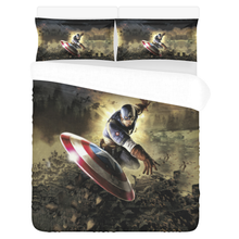 Load image into Gallery viewer, Captain America – Bedding Set (Duvet Cover & Pillowcases)