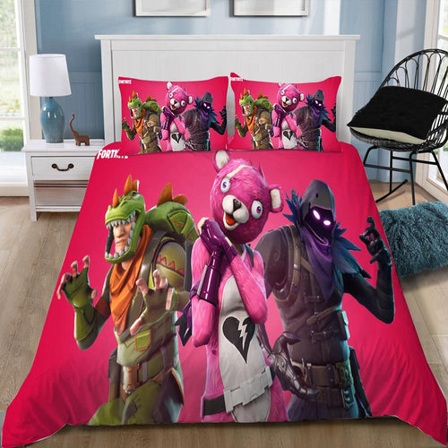 Cuddle Team Leader- Fortnite Gamer - Bedding Set (Duvet Cover & Pillowcases)