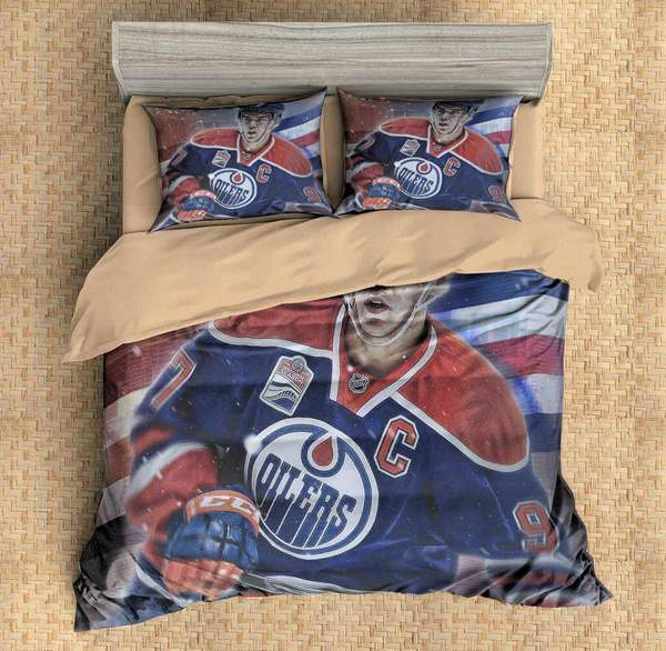 3D Customize Connor McDavid Edmonton Oilers Bedding Set Duvet Cover