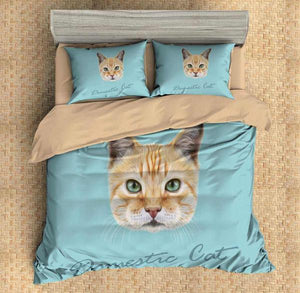 3D Customize Domestic Cat Bedding Set Duvet Cover
