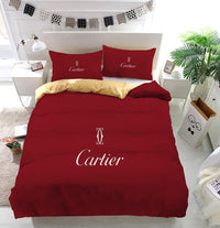 Cartier Logo Custom Bedding Set (Duvet Cover & Pillowcases)