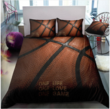 3D Boys Basketball Sports Bed Linens Set Bedclothes Quilt Comforter Cover Adults Children