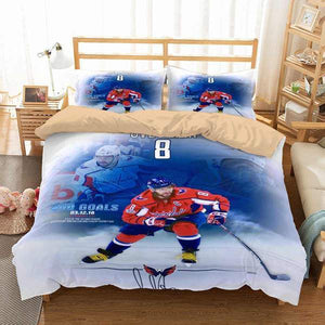 3D CUSTOMIZE ALEX OVECHKIN WASHINGTON CAPITALS BEDDING SET DUVET COVER
