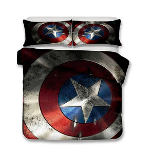 "3D Art Pattern Marvel The Avengers Captain America Cover Set Steven ""Steve"" Rogers"