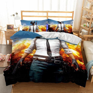 3D Bedding Wholesale Game PUBG Printed Bedding Sets Duvet Cover Set