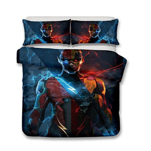 3D DC Barry Allen The Flash Bedding Set Duvet Cover #1