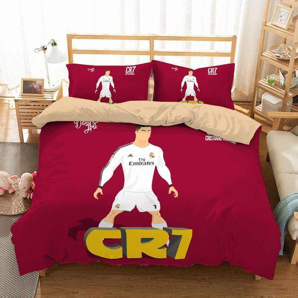 3D Customize Cristiano Ronaldo Bedding Set Duvet Cover #5
