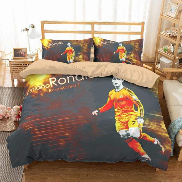3D Customize Cristiano Ronaldo Bedding Set Duvet Cover #7