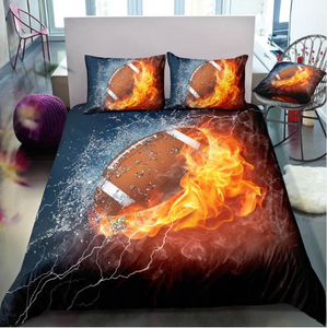 3D Boys Cool Baseball Sports Bedclothes Soft Quilt Comforter Cover Adults Children - ( 6 styles)