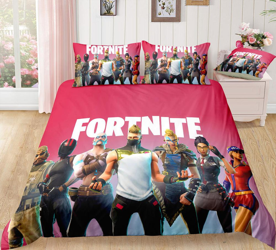 Red - Fortnite Gamer - Bedding Set (Duvet Cover & Pillowcases)