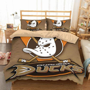 3D CUSTOMIZE ANAHEIM DUCKS BEDDING SET DUVET COVER