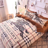Burberry Custom Bedding Set #1(Duvet Cover & Pillowcases)