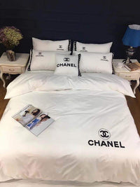 Chanel  Logo Custom  Bedding Set (Duvet Cover & Pillowcases)