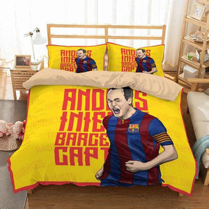 3D CUSTOMIZE ANDRÉS INIESTA BEDDING SET DUVET COVER