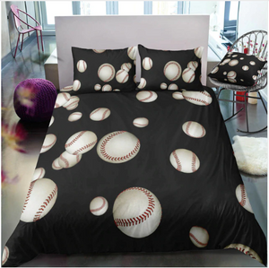 3D American Baseball Bed Linens Set Boys Bed Decoration Bedclothes Comfortable Birthday Gift Children Bedding Duvet Cover Set #2