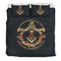 3D Customize  Brotherhood Masonic  Bedding Set Duvet Cover