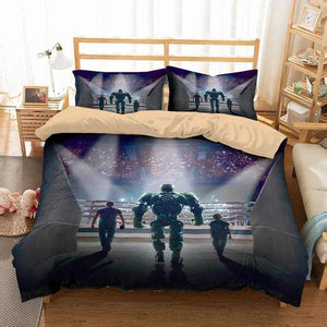 3D CUSTOMIZE REAL STEEL BEDDING SET DUVET COVER