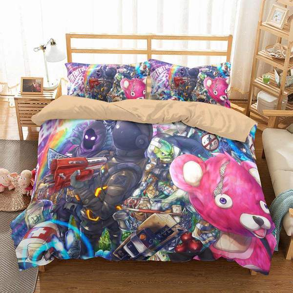 3D CUSTOMIZE FORTNITE BEDDING SET DUVET COVER SET BEDROOM SET BEDLINEN
