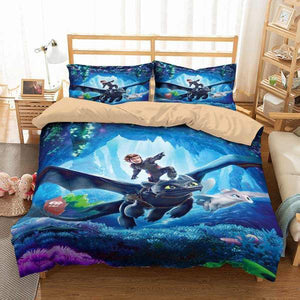 3D CUSTOMIZE HOW TO TRAIN YOUR DRAGON BEDDING SET DUVET COVER SET BEDROOM