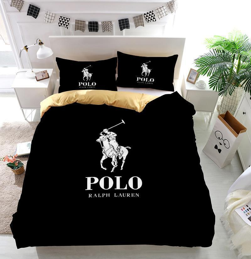 Ralph Lauren Polo Logo Custom Bedding Set (Duvet Cover & Pillowcases)