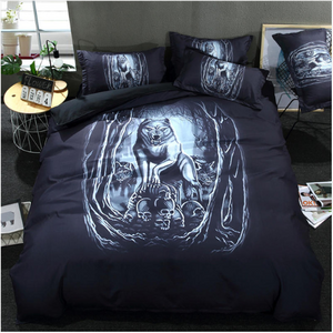 Wolf Bed Linen Set King Size 3pcs 3D Animal Comforter Quilt Duvet Cover Sets Shams Bedclothes Bed and Bedding Set for Kid's Bed #1