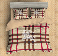 Burberry Custom Bedding Set #2(Duvet Cover & Pillowcases)