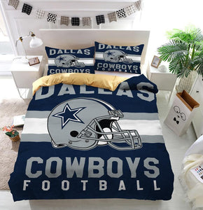 Dallas Cowboys Football Logo Custom  Bedding Set (Duvet Cover & Pillowcases)
