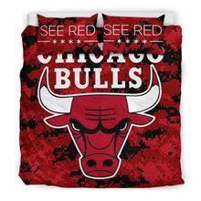 Load image into Gallery viewer, Chicago Bulls (2 Styles) - Bedding Set (Duvet Cover & Pillowcases)