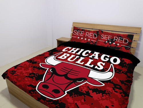 Chicago Bulls (2 Styles) - Bedding Set (Duvet Cover & Pillowcases)