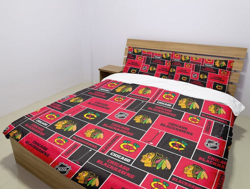 Chicago Blackhawks (2 Styles) - Bedding Set (Duvet Cover & Pillowcases)
