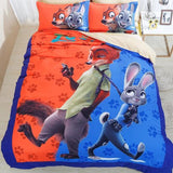 3D ZOOTOPIA DUVET COVER SET 3 PCS BEDDING SET FLAT SHEETS PILLOWCASES