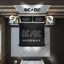 Load image into Gallery viewer, AC/DC Custom Bedding Set (Duvet Cover & Pillowcases)