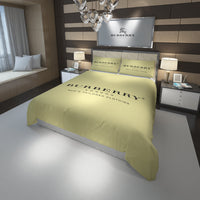 Burberry Logo Custom Bedding Set Duvet Cover #2
