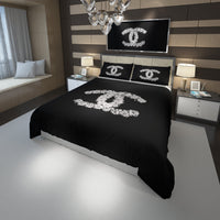 Chanel Inspired Custom Bedding Set Duvet Cover #2