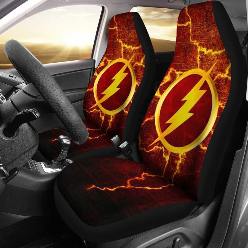 The Flash (2 Styles) - Car Seat Covers (2pc Set)